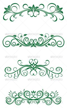 Vintage floral decorations by seamartini Vintage floral decorations isolated on white for design. Related terms: decoration, vector, ornate, vintage, scroll, design, art,
