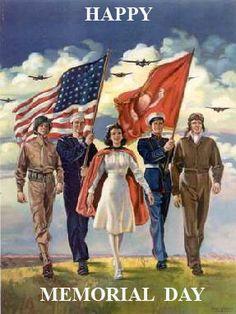 Memorial Day poster Happy Memorial Day veterans armed forces