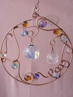 Wire wrapped sun catcher
