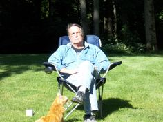 A man and his cat in the spring!