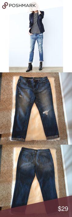 Levis 501 sexy distressed dark wash 36x36