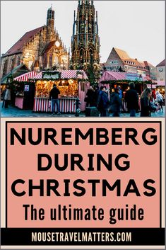 Exploring Nuremberg during Christmas vacation, with kids See why the world-famous Nuremberg Christmas Market (Christkindlesmarkt) is a must-visit from food to gluhwein to shopping Nuremberg Christmas Market, Christmas Markets Germany, Holidays Germany, German Christmas Markets, Christmas In Europe, Christmas Travel, Christmas Vacation, Prague Christmas, Christmas 2019