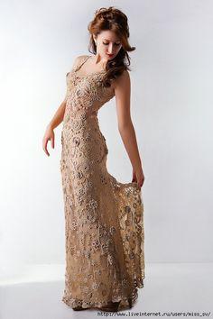 Ivelise Feito à Mão: Crochê Irlandês Sonhos de Vestidos Maravilhosos!!!!   Wish I could crochet like this