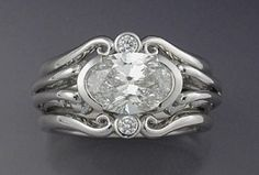 Oval Edwardian wedding ring set | The Wedding Specialists~~~Just perfect~~~love this