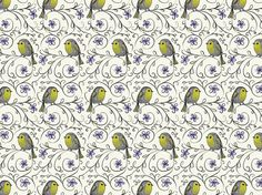 have a lovely day! pattern by Barbibau. Purple Wine, Vintage Wine, Whistler, Blue Bird, Orchids, Paradise, Birds, Colours, Texture