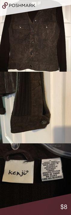 Vintage faux suede washable jacket Faux suede vintage jacket.  Size Large, but truly fits like a Medium.  Machine washable. Jackets & Coats