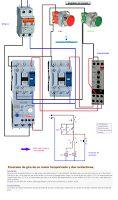 Esquemas eléctricos: Inversión de giro de un motor temporizado y dos co...