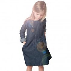 rose desbois. robe Pauline denim   mode enfant (-40%)