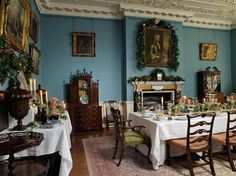 The Dining room of Fairfax House, ready for christmas Dinner