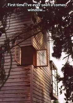 Corner window.