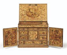 Cabinet en marqueterie de bois fruitiers, Allemagne du sud, XVIIe siècle | lot | Sotheby's