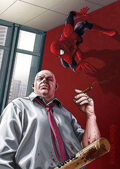 #Spiderman #Fan #Art. (SPIDER-MAN) By: RUIZBURGOS. (THE * 5 * STÅR * ÅWARD * OF: * AW YEAH, IT'S MAJOR ÅWESOMENESS!!!™) ÅÅÅ+ - Visit to grab an amazing super hero shirt now on sale!