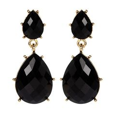 Amrita Singh Jet Black Austrian Crystal Hampton Bay Drop Earrings ($7.99) ❤ liked on Polyvore featuring jewelry, earrings, beading jewelry, bead jewellery, drop earrings, austrian crystal earrings and amrita singh jewellery