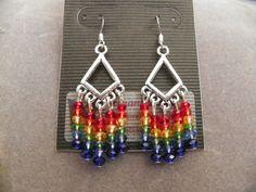 Rainbow Chandelier Earrings