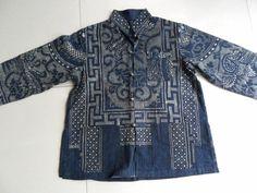Chinese Indigo Batik Designs book | Chinese Batik jacket - dots make the design