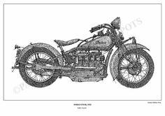 Indian Four 1932  Original Handmade Drawing Art by drawspots, $42.00