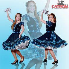 Vestidos de huasa catron - Imagui Dance Dresses, No Frills, Square Dance, Crochet, Ballet Skirt, Petticoats, Pretty, Womens Fashion, Skirts