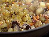 Northern Italian Caponata with Potatoes recipe from Michael Chiarello via Food Network Italian Eggplant Recipes, Best Italian Recipes, Great Recipes, Healthy Recipes, Healthy Meals, Favorite Recipes, Vegan Dishes, Food Dishes, Main Dishes