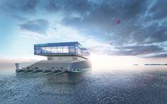 Lego Inspired glass boat
