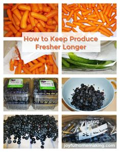 How to Keep Fruits and Vegetables Fresher Longer - Joyful Homemaking Healthy Meals For Kids, Healthy Tips, Kids Meals, Healthy Eating, Chef Recipes, Quick Recipes, Vegan Recipes, Love Food, A Food