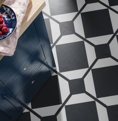 Discover Harvey Maria's new Neisha Crosland collection, Dovetail. Harvey Maria, Patterned Vinyl, Vinyl Tiles, Interior Inspiration, Flooring, Texture, Kitchen, Crafts, Collection