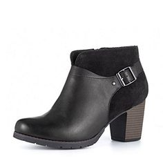 Clarks Pause Cheer Leather & Suede Ankle Boot Wide Fit