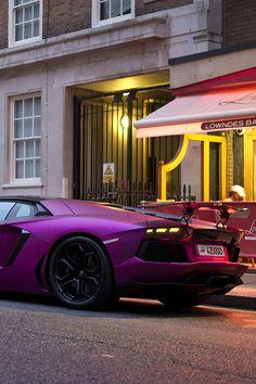 Purple Lambo :o My Dream Car, Dream Cars, Truck Wheels, Hot Wheels, Unique Cars, Hot Rides, Car Car, Car Vehicle, Lamborghini Aventador