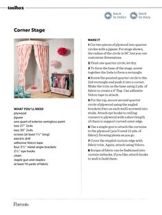 DIY stage for playroom
