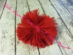 Unfinished Red Ballerina Flower by IsellusDesigns on Etsy