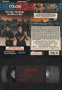 After the events of the previous decade in Los Angeles, this 1988 film about L.A. street gangs as seen through the eyes of the LAPD represented a serious effort to throw some light on the appalling carnage of that world in which, for example, 400 gangbangers were killed in 1987, the year the film was in production. It stars Robert Duvall as Mike Hodges and Sean Penn as Danny McGavin, veteran/rookie cop partners attached to CRASH, the LAPD's gang-supression unit.