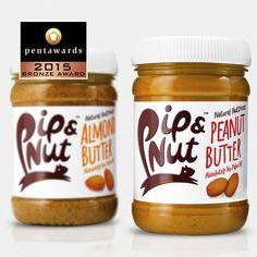 B&B studio - Pip & Nut — World Packaging Design Society / 世界包裝設計社會 / Sociedad Mundial de Diseño de Empaques Packaging Awards, Jam Packaging, Beverage Packaging, Brand Packaging, Design Packaging, Branding Design, Snack Brands, Butter Brands, Label Design