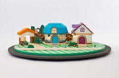 It's Paper Mario ... IN PAPER! - Nintendo house by Adeline Besse, via Behance