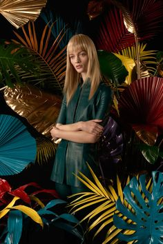 7 Spring Color Trends That Are Not Cliché #refinery29  http://www.refinery29.com/spring-2015-color-trends#slide-6  Deep TealBlues — be it baby or robin's egg — are ubiquitous for spring, but we prefer the unexpected choice of teal that we found at shows like Burberry, Erdem, and Acne. This seasonal tone is darker, edgier, and so very pretty. Here, we styled it in leather, but a softer, more classically feminine silhouette in this same shade would be just as badass. Acne Studios top.