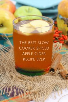 The best Slow Cooker Spiced Apple Cider recipe ever. Spiced Apple Cider, Spiced Apples, Frugal Family, Frugal Living, Best Slow Cooker, All Things Christmas, Christmas Crafts, Non Alcoholic, Candle Jars