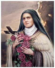 St.Therese of Lisieux the Little Flower C by PortraitsofSaints