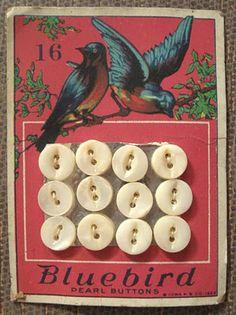 Bluebird button card / vintage ephemera   Tumblr