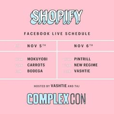 I'm at @Complex's @Complexcon with @Shopify. Come and see me for once  #ComplexCon