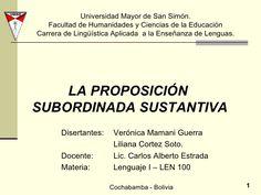 La preposición subordinada sustantiva