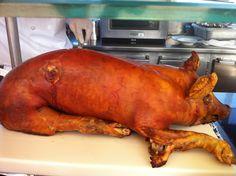 Roast pig onboard the Seven Seas Navigator from Regent Seven Seas Cruises.