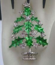 Tis The Season Merry Christmas Tree Brooch