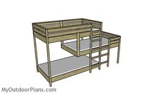 Triple Bunk Bed Plans | MyOutdoorPlans | Free Woodworking Plans and Projects, DIY Shed, Wooden Playhouse, Pergola, Bbq