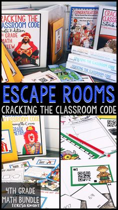 Have you tried the latest new classroom craze, escape rooms? Get this math bundle of 6 games for 4th grade. All activities cover a domain in the common core, with a bonus review game that covers all the domains. Can your students breakout of their risky situation? Will they solve the math problems in time? From geometry, to division, to fractions, and more, your students won't even know they are playing a math game! Students will be begging for more! Perfect for fourth grade kids.