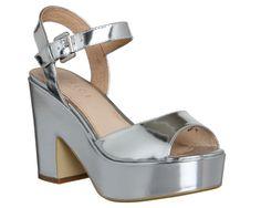 Office Dauntless Sandal Silver Mirror - Mid Heels