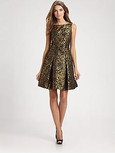 Theia Brocade Dress