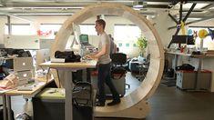 The Human Hamster Wheel Standing Desk Treadmill - Core77
