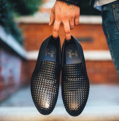Spring style - Pyramid Black loafers from @dukedexter by icatchfeelings