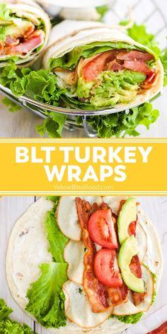 Turkey Wrap Recipes, Turkey Wraps, Easy Wrap Recipes, Wrap Recipes For Lunch, Chicken Lunch Recipes, Best Lunch Recipes, Cheap Recipes, Good Healthy Recipes, Healthy Meal Prep