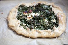 Healthy Whole Wheat Kale and Feta Tart Dinner Recipe