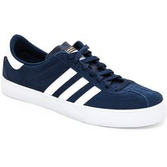 1620a6ecf3 Adidas Navy  amp  White Skate ADV Low Top Sneakers ( 33) ❤ liked on