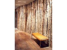 Birch tree wall  ARCHITECTURE by KMA, Inc.  CONSTRUCTION by Highline Partners  INTERIOR DESIGN by Worth Interiors PHOTO by Gibeon Photography Mountain Living Magazine
